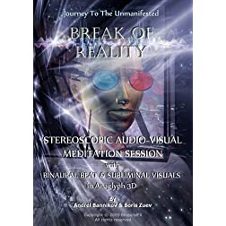 "Journey to Unmanifested ""Break Of Reality"" Stereoscopic Audio-Visual Meditation Session with Binaural Beat & Subliminal Visuals  in Anaglyph 3D"