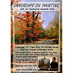 Landscape Oil Painting 101 - Paint Autumn Color