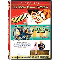 The Classic Cinema Collection - 3 DVD SET! - Houdini, Money from Home, & Papa's Delicate Condition