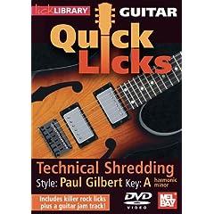 Guitar Quick Licks: Paul Gilbert Style Techinical Shredding, Key of A