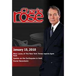 Charlie Rose - Marc Lacey / Update on the Earthquake in Haiti / Daniel Barenboim  (January 15, 2010)