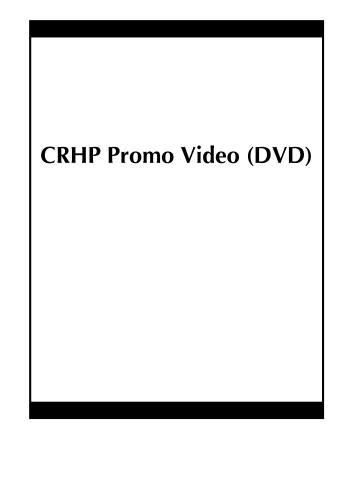 CRHP Promo Video (DVD)