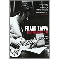 Zappa, Frank The Freak Out List