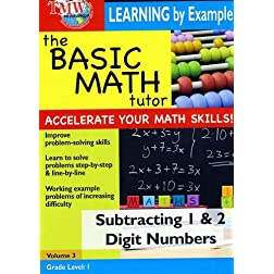 The Basic Math Tutor: Subtracting 1 & 2 Digit Numbers