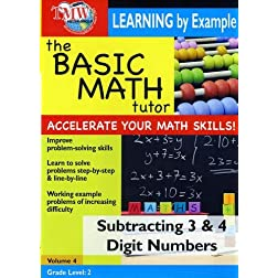 The Basic Math Tutor: Subtracting 3 & 4 Digit Numbers