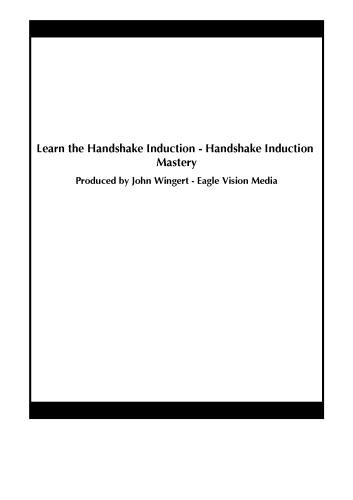 Learn the Handshake Induction - Handshake Induction Mastery