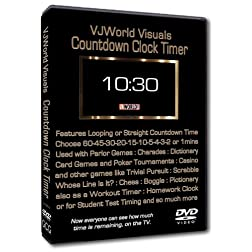 VJWorld Visuals Countdown Clock Timer