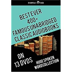Best Ever 400+ Famous UNABRIDGED Classic AudioBooks - 13 DVDs