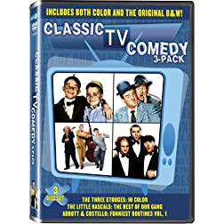 Comedy 3 pack: Abbott & Costello Vol 1, Little Rascals: Best of our Gang, & Three Stooges Shorts - In COLOR! Also Includes the Original Black-and-White Version which has been Beautifully Restored and Enhanced!