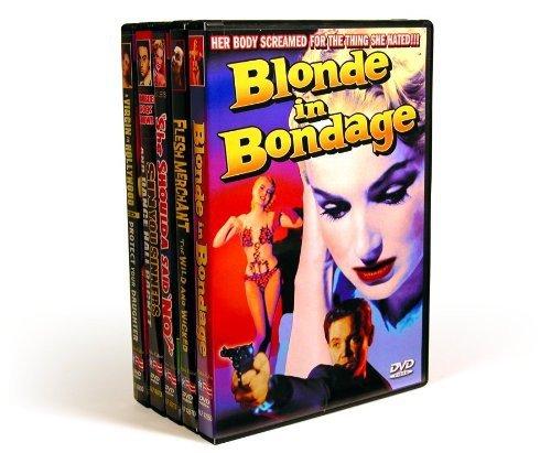 "Vintage Exploitation: Blonde In Bondage (1957) / Flesh Merchant (1955) / Sin You Sinners (1963) / Dance Hall Racket (1953) / She Shoulda Said """"No!"""" (1949)/ A Virgin In Hollywood (1948) / Protect Your Daughter (1933) (5-DVD)"