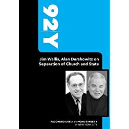 92Y-Jim Wallis, Alan Dershowitz on Seperation of Church and State (September 21, 2006)