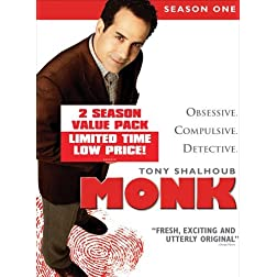 Monk: Season One & Two (8pc) (Ws Btb Dig Slip)