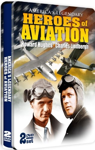 America's Legendary Heroes of Aviation - Charles Lindbergh and Howard Hughes - SPECIAL EMBOSSED TIN - 2 DVD Set!