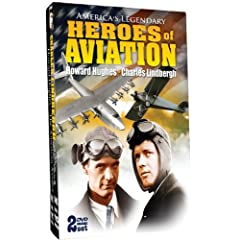 America's Legendary Heroes of Aviation - Howard Hughes and Charles Lindbergh - 2 DVD Set!