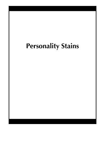Personality Stains