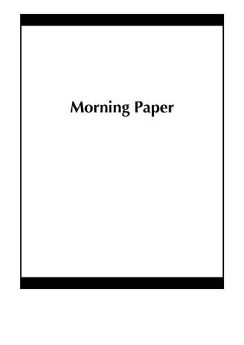 Morning Paper
