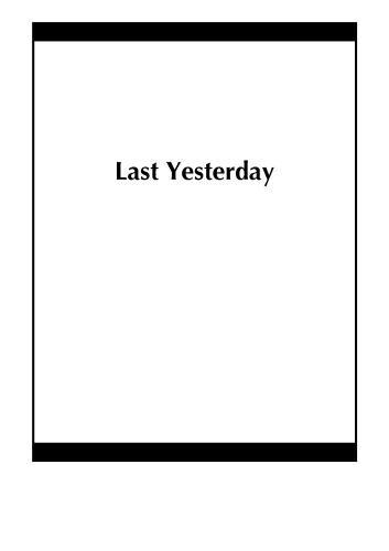 Last Yesterday