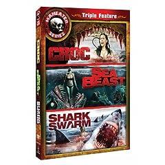 Maneater Triple Feature Three (Croc/Sea Beast/Swarm)