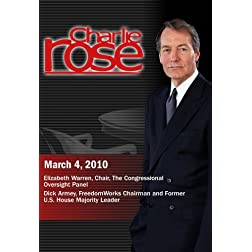 Charlie Rose - Elizabeth Warren /  Dick Armey (March 4, 2010)