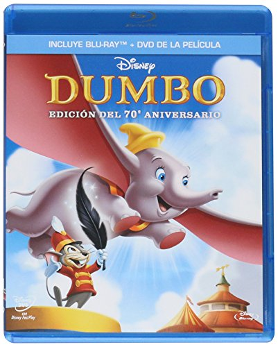 Dumbo 70th Anniversary Edition (Blu-ray/DVD Combo w/Blu-ray packaging) Blu-ray Region A / DVD Region 1 & 4