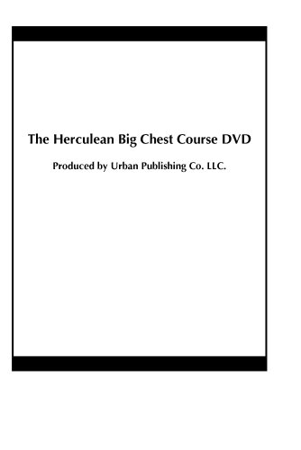 The Herculean Big Chest Course DVD