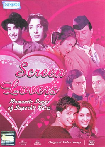 Screen Lovers - Romantic Pairs Who Created Waves in Their Times / Classic Bollywood Love Songs (20 Romantic Hindi Songs / India Cinema Music Video Compilation DVD)
