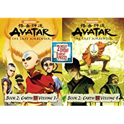 Avatar The Last Airbender: Book 2 Earth, Vols. 3&4