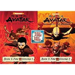Avatar The Last Airbender: Book 3 Fire, Vols 1&2