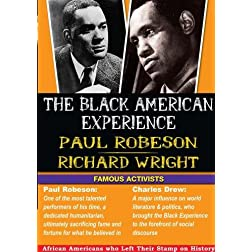 The Black American Experience Famous Activists 2 Pack: Paul Robeson & Richard Wright