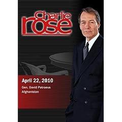 Charlie Rose - Gen. David Patraeus / Afghanistan (April 22, 2010)