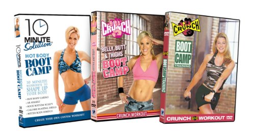 Boot Camp Fitness Bundle (10 Minute Solution: Hot Body Boot Camp / Belly, Butt & Thighs Bootcamp / Crunch: Boot Camp Training)
