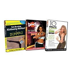 Kickbox Bundle (Fat Burning Kickbox Workout for Dummies / 10 Minute Solution: Kickbox Bootcamp / Crunch: Super-Charged Kickbox Party)