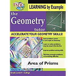 Area of Prisms: Geometry Tutor