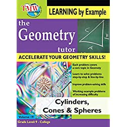 Cylinders Cones & Spheres: Geometry Tutor