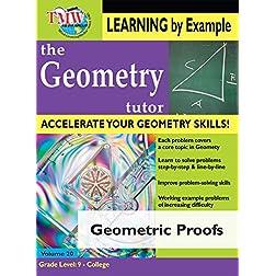 Geometric Proofs: Geometry Tutor