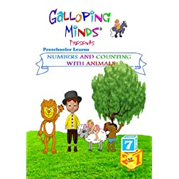 Galloping Minds - Preschooler Learns Numbers and Counting with Animals