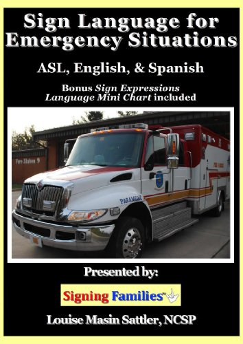 SIGN LANGUAGE for EMERGENCY SITUATIONS- ASL, English, Spanish