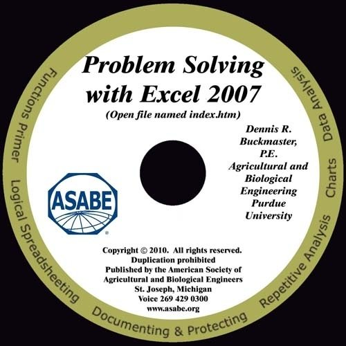Problem Solving with Excel 2007