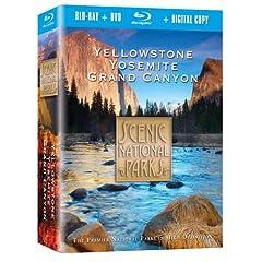 Scenic National Parks: Yellowstone, Yosemite, Grand Canyon Combo Pack [Blu-ray]