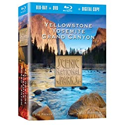 Scenic National Parks: Yellowstone, Yosemite, Grand Canyon Combo Pack [Blu-ray]