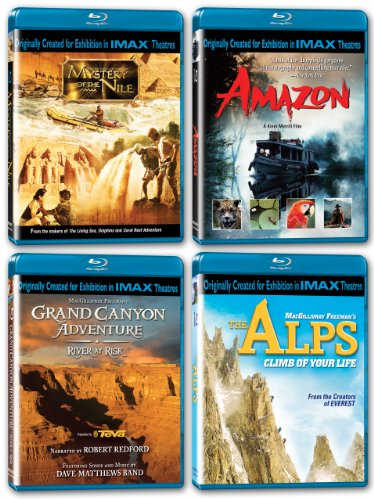 IMAX: Must-See Places Collection (Mystery of the Nile/Amazon/Grand Canyon Adventure/The Alps) [Blu-ray]