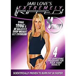 Jari Love: Get Extremely Ripped 4 DVD Collection w/Bonus Get Ripped & Chiseled