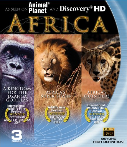 Africa: Blu-ray 3-pack (A Kingdom for the Dzanga Gorilla, Africa's Super Seven and Africa's Outsiders)