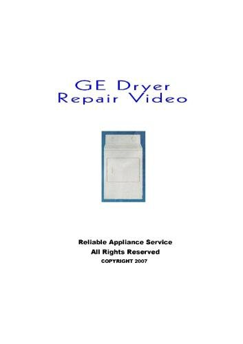 GE Dryer Repair Dvd