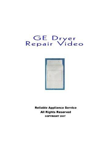 GE Dryer Repair Dvd