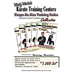 Marty Martin's Kenpo Jiu Jitsu Training Series Beginner/Intermediate DVD Collection