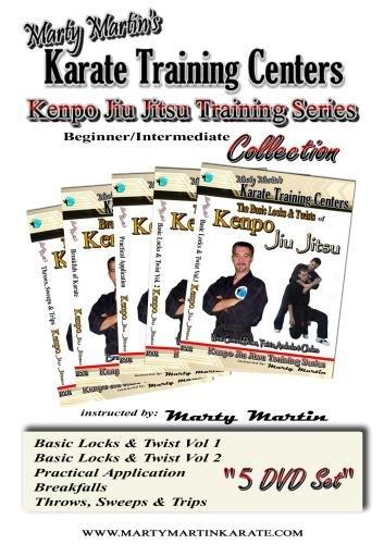 Marty Martin's Kenpo Jiu Jitsu Training Series Beginner/Intermediate DVD Collection