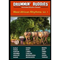 DRUMMIN' BUDDIES Animated Rhythm Sheets : West African Rhythms vol. 1