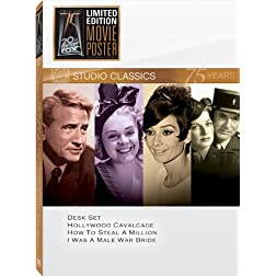 Classic Quad Set 14: Desk Set/Hollywood Cavalcade/How to Steal a Million/I Was a Male War Bride