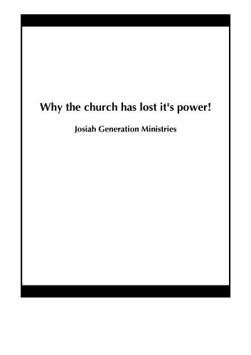 Why the church has lost it's power!